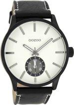 OOZOO Timepieces Zwart/Wit horloge C8218 (45 mm)