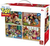 Disney 4in 1 Puzzle Toy Story  - Vier Kinderpuzzels in een Koffertje - King