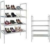 Koopcity Metalen Schoenenkast - 4 - Voor 12 paar schoenen
