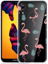 Huawei P20 Lite Hoesje Flamingo Pattern