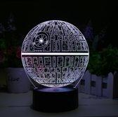 Star Wars Death Star 3D LED sfeer lampLamp - hologram 7 kleuren