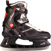 Nijdam 3353 Ijshockeyschaats - Semi-Softboot - Maat 45 - Zwart/Oranje
