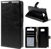 Cyclone wallet case hoesje Samsung Galaxy A3 2016 zwart