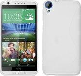 HTC Desire 830 Smartphone Hoesje Tpu Siliconen Case S-Style Wit