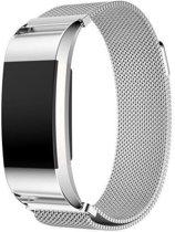 Fitbit Charge 2 Milanese Horloge Bandje Maat L - Zilver