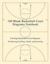 100 Blank Basketball Court Diagrams Notebook