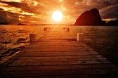 Papermoon Jetty Sunset Vlies Fotobehang 350x260cm 7-Banen