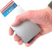 Businessme - Aluminium Cardprotector Pasjeshouder - RFID Creditcardhouder Heren - 7 Pasjes - Zilver