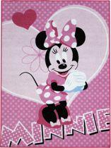Tapijt Disney Minnie Mouse roze bloem