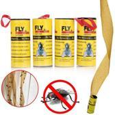 Vliegenvanger plakstrip kleefband – Insectenvanger – Vliegenpapier – Milieuvriendelijk - Set van 4 rollen