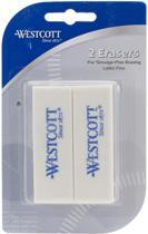 Westcott - 2 gummen in blister - wit
