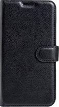 LG X Max & X5 horizontaal Litchi structuur PU leren Flip Hoesje met magnetische sluiting  houder en opbergruimte voor pinpassen & geld (zwart)