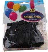 Pegaso Ballonnen 28 Cm Zwart 20 Stuks
