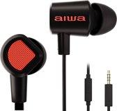 Aiwa Prodigy-1 In-Ear Oordopjes met microfoon - 4 extra opzetstukjes - Nylon opbergtasje