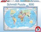 Schmidt puzzel Geographical World 1000 stukjes