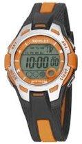 Nowley 8-6301-0-5 digitaal horloge 36 mm 100 meter zwart/ oranje