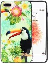 Toekan Tropisch Hardcase Cover Hoesje voor Apple iPhone 7 Plus / 8 Plus