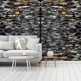 Fotobehang vinyl - Schitterende vormen van de Titanic Belfast breedte 470 cm x hoogte 350 cm - Foto print op behang (in 7 formaten beschikbaar)