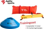 Trainingsset Agility Sports | Loopladder | trainingsladder | Speedladder | Pionnenset | Blauw |