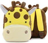 Kinderrugzak giraf van zacht pluche - lekker zacht en praktisch | stoere giraf schooltas | 2-5 jaar | Babygold ®