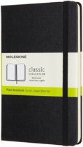 Moleskine Notebook, Medium, Plain, Black, Hard Cover (4.5 X 7)