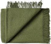Groene plaid van 100% wol