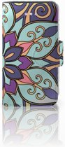 iPhone 4 | 4S Boekhoesje Design Purple Flower