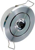 LED inbouwspot 1x1Watt / DIMBAAR per 2 stuks in doosje
