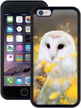 Kerkuil (Uil) | Handmade in Benelux | iPhone 6 6s (4,7') | Zwart TPU Hoesje | Extra Grip + Schokbestendig