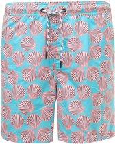 Snapper Rock Boardshort mannen - Shell Print - Blauw/Oranje - maat XL