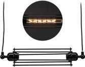 relaxdays hanglamp industrieel - metaal - kooilamp - metaal - zwart - eettafel lamp - E27