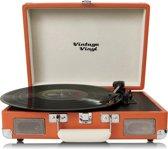 Vintage Vinyl kofferplatenspeler bruin - line-in - Retro platenspeler