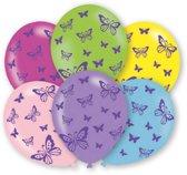 6 Latex Balloons Butterflies