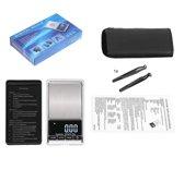 Digitale Mini Pocket Precisie Weegschaal - Diamand - Goud - Kruiden - Poeder - Keuken - Met Tarre Functie - 0.01MG tot 500 Gram Nauwkeurig- Inclusief Pincet