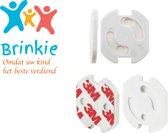 Brinkie® Zelfklevende stopcontact beveiliging 24 stuks - Als beste getest - 38 cent per stuk - Baby & veiligheid
