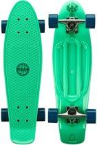 """Nijdam Kunststof Skateboard 28"""" - Flipgrip-board - Mintgroen/Blauw"""