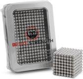 Brute Strength - Neocube Magneetballetjes -  Zilver (504 balletjes   5mm   magneet balletjes magneten magnetische ballen magnetic balls in metalen geschenkverpakking)