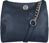 Chabo Bags Chain Bag Small Blue Schoudertas  - Blauw