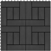 vidaXL Terrastegels 30x30 cm 1 m² HKC zwart 11 st