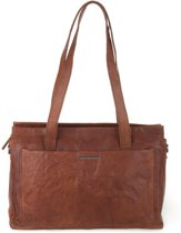 Spikes & Sparrow Dames Schoudertas / Handtas Casual Brandy