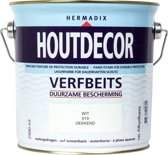 Hermadix Houtdecor Verfbeits Dekkend - 2,5 liter - 619 Wit