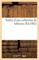 Notice d'Une Collection de Tableaux