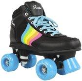 Rookie Rolschaatsen Forever Rainbow - Kinderen - Zwart/Blauw/Geel/Roze - Maat 34