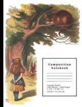 Alice in Wonderland & Cheshire Cat Composition Notebook