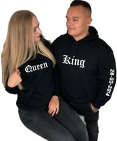 SETJE HOODIES KING QUEEN DATUM EN JAARTAL