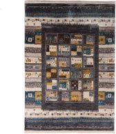 Frame Vloerkleed met Minimalist Prent - 160X240 cm - Grijs, Multikleur