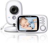 Babyfoon met camera | 3.2 inch babyphone | A-kwaliteit | Veilige verbinding | Terugspreken | Temperatuur | Slaapliedjes | Nachtzicht | Energiebesparing | Model 2020