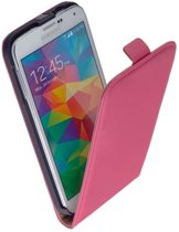 Samsung Galaxy S6 Leder Flip Case hoesje Roze