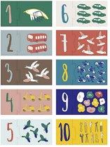 Sebra - puzzel cijfers -  little driver/singing birds