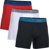 Under Armour Charged Cotton 6in 3Pk Boxer Heren - Rood - Maat L